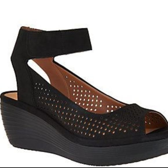 f54fe46b4437 Clarks Shoes - Clarks Reedly Salene Wedge Sandal